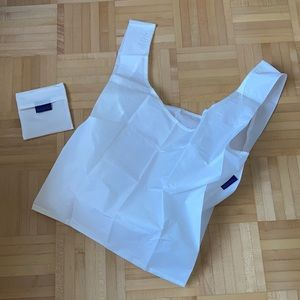 NWOT White standard BAGGU reusable bag